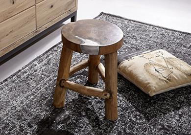 Sgabello legno teak