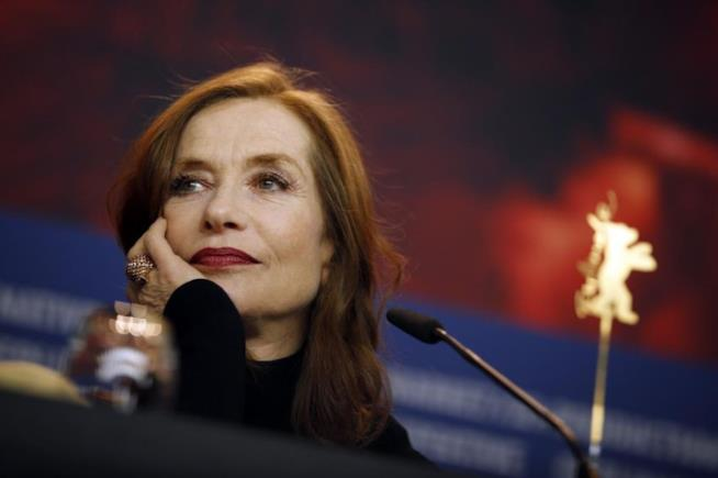 Isabelle Huppert in conferenza a Berlino