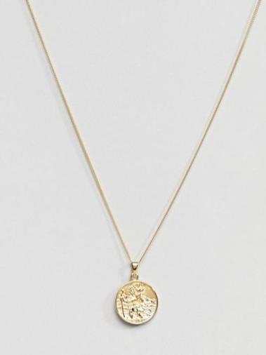 Collana con San Cristoforo in argento sterling placcato oro