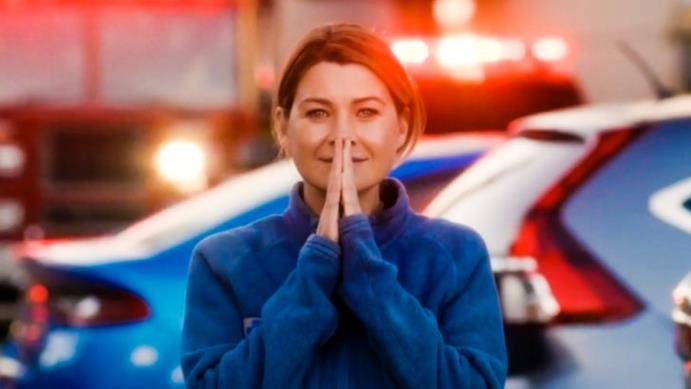 Ellen Pompeo nell'ultima scena di Grey's Anatomy 13
