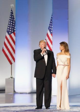 Melania e il Presidente Donald Trump
