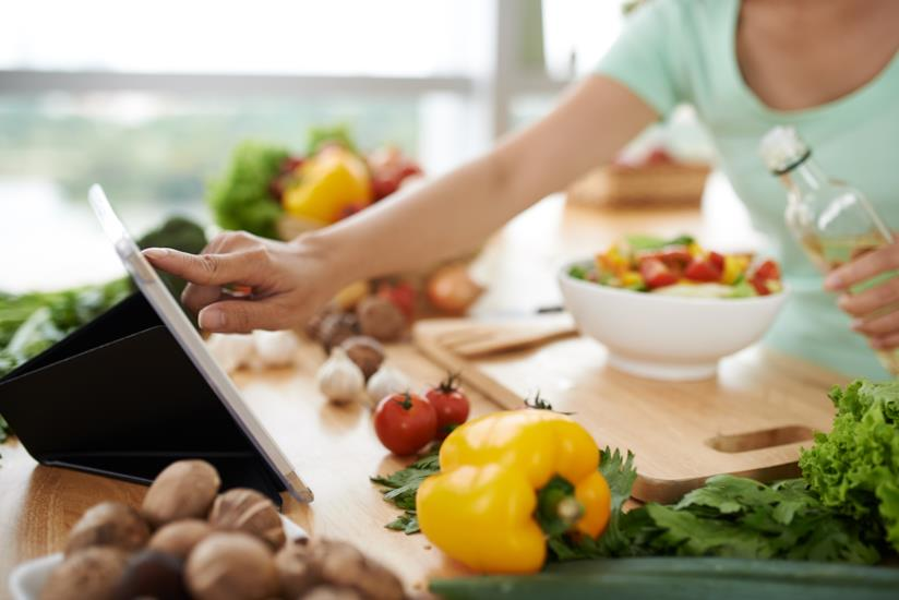 Tablet mentre si cucina