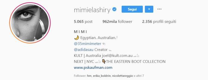 Profilo instagram Mimi Elashiry