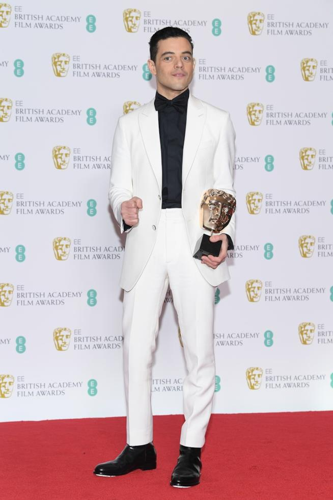 Rami Malek sul red carpet dei BAFTA
