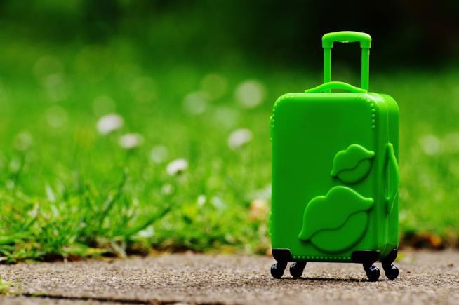 Un trolley verde.