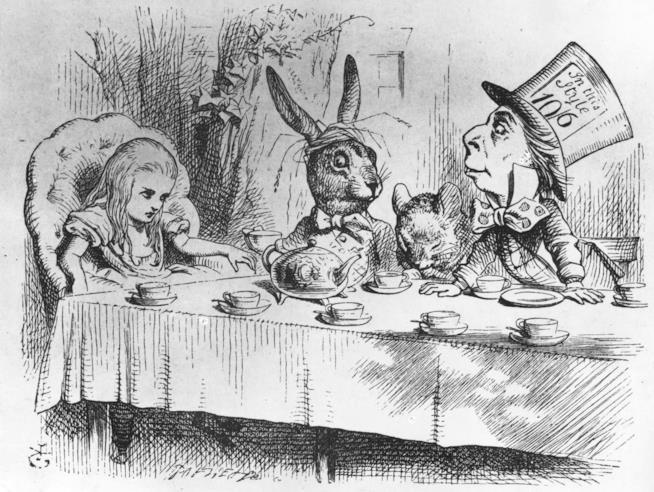 Un'illustrazione tratta da Le Avventure di Alice nel Paese delle Meraviglie