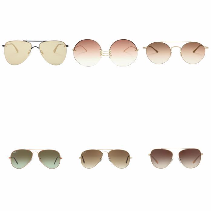 Montatura sottile e in metallo per gli occhiali da sole P/E 2018