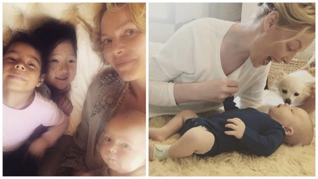 Alcuni scatti di Katherine Heigl e i suoi figli