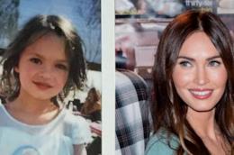 Un collage tra Megan Fox e il figlio