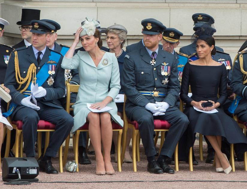 Il Principe William, Kate Middleton, il Principe Harry e Meghan Markle