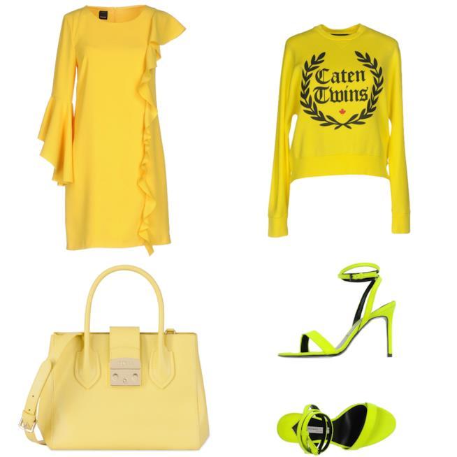 Dai vestiti agli accessori il giallo di moda