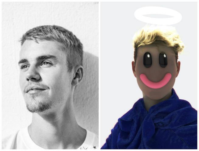 Justin Bieber con il misterioso BloodPop®