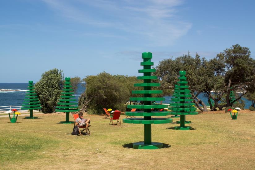 Alberi Lego in un parco naturale