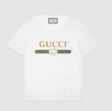 La t-shirt Gucci con il logo vintage