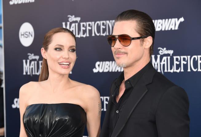 Angelina Jolie e Brad Pitt alla première di Maleficent