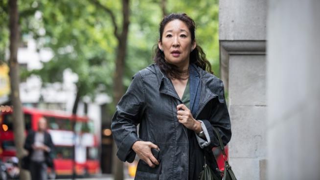 Sandra Oh in una scena di Killing Eve