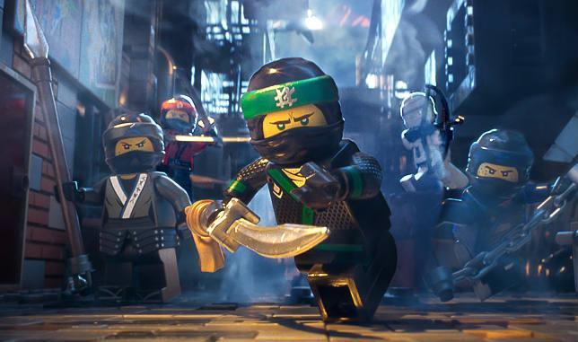 Una scena di Lego Ninjago - Il film