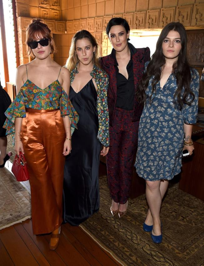 Demi Moore con le sue tre figlie