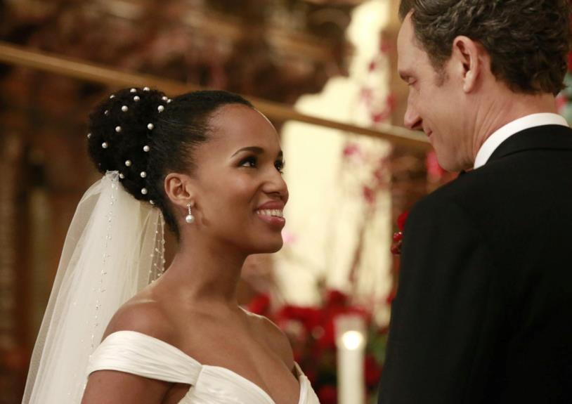 Le 'nozze' di Olivia e FItz in un episodio di Scandal