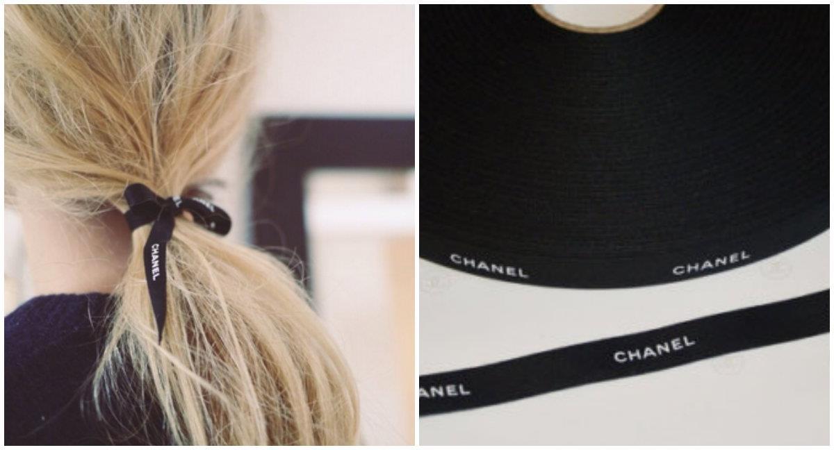Nastro Chanel con coda morbida