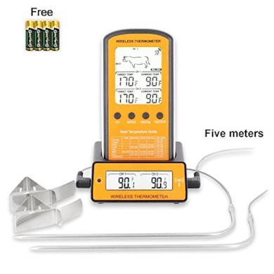 Telecomando Wireless con Termometro per Barbecue