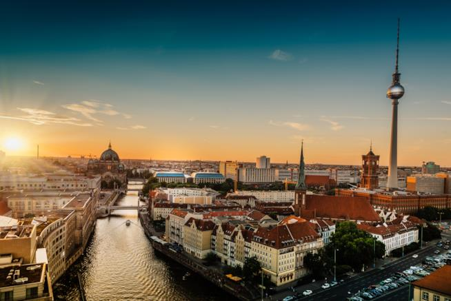 Berlino al tramonto