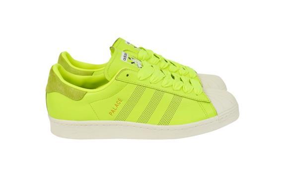 Palace X Adidas Superstar verde neon
