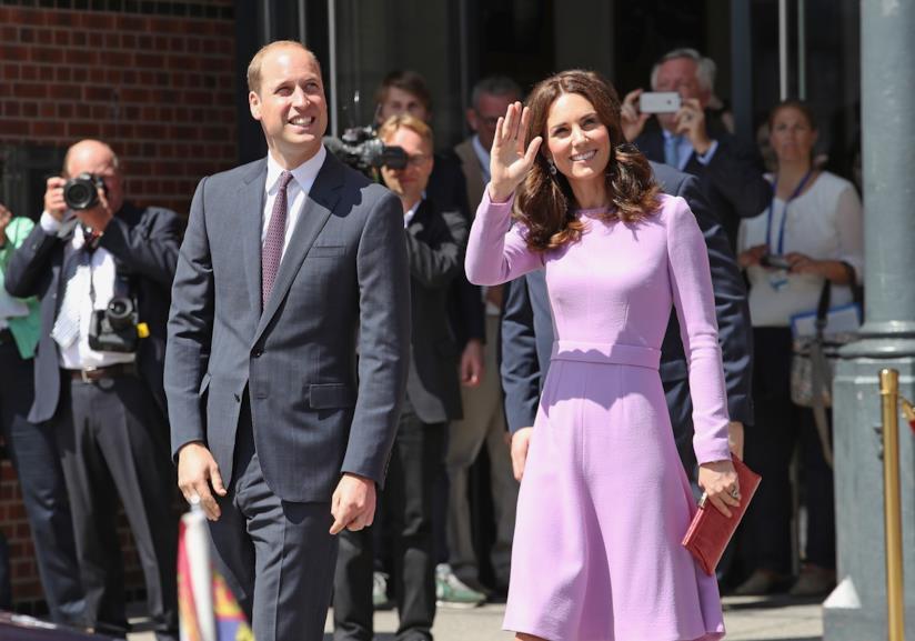 Primo piano di Kate Middleton e del Principe William
