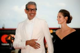 Jeff Goldblum e la moglie Emilie Livingston