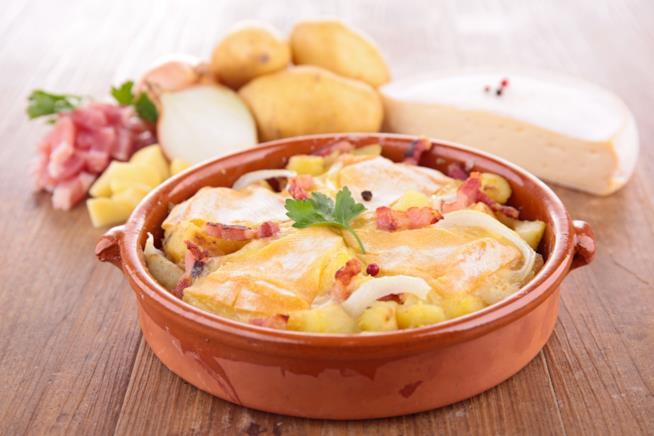 Un tipico piatto della Valle d'Aosta: la tartiflette