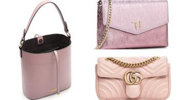 Collage borse rosa