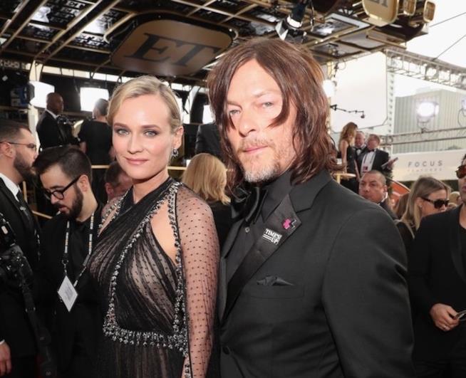 Diane Kruger e Norman Reedus ai Golden Globes 2018