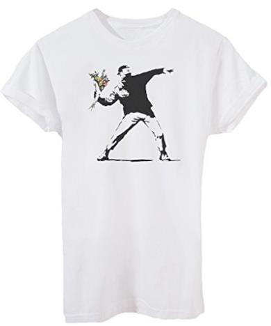 T-Shirt Banksy Lancio di Fiori