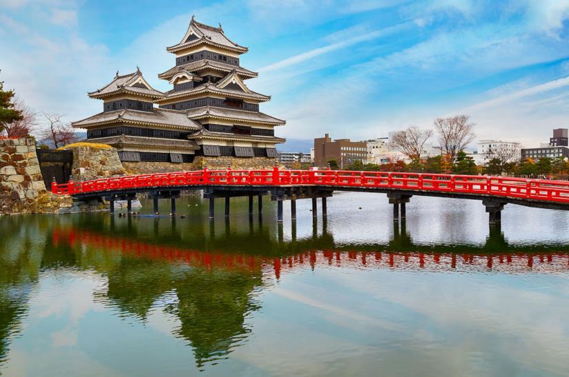 Il castello di Matsumoto in Giappone
