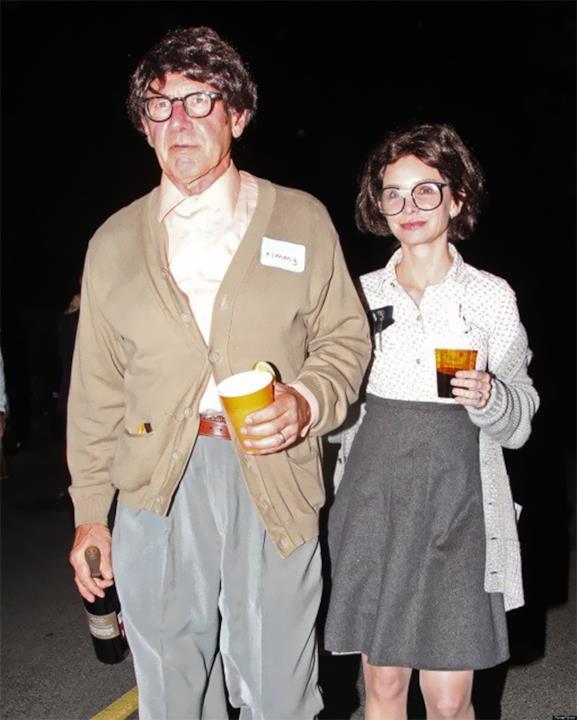 Harrison Ford e Calista Flockart indossano un curioso costume