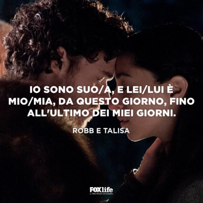 Robb e Talisa al matrimonio