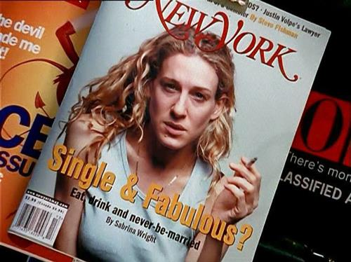 Carrie Bradshaw in Sex and The City