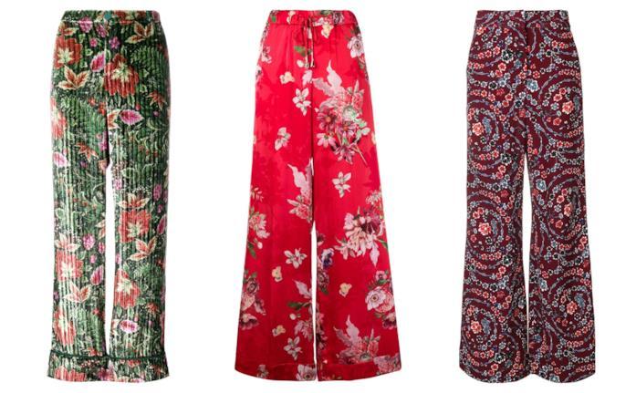 A fiori, i pantaloni super colorati moda autunno inverno 2018-19