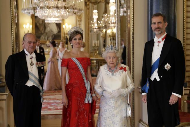 Il banchetto a Buckingham Palace per Felipe e Letizia