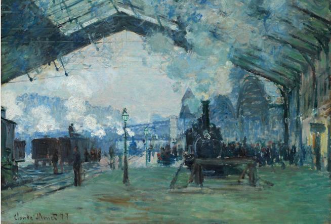 IL quadro La gare Saint-Lazare, di Monet