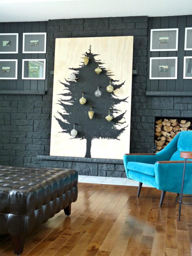 Albero di Natale dipinto
