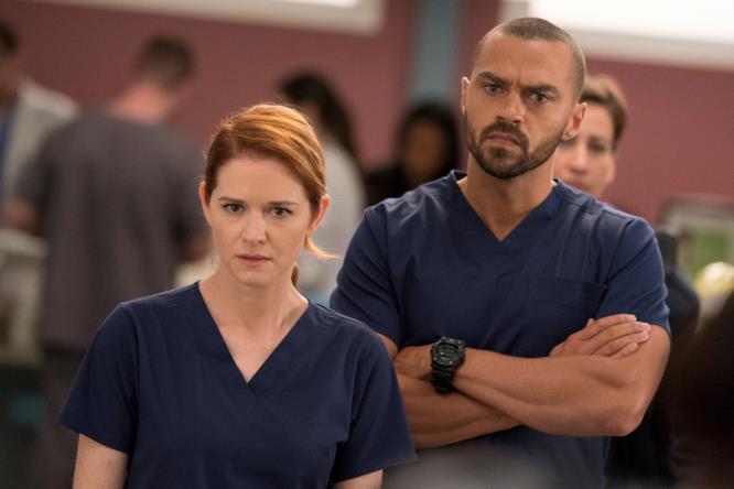 Jesse Williams e Sarah Drew in Grey's Anatomy