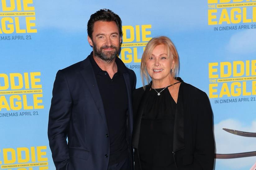 Hugh Jackman con la moglie Deborra