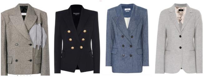 Collage di giacche doppiopetto