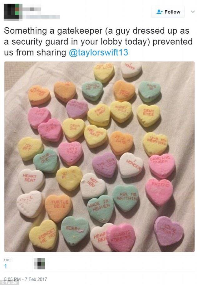 Uno dei tweet dello stalker di Taylor Swift