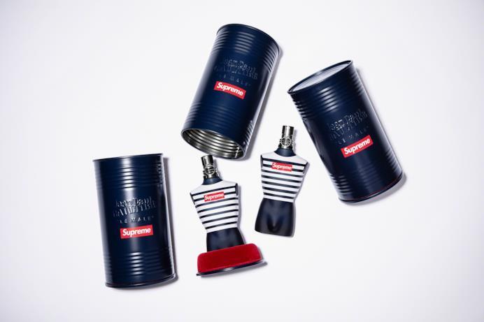 """L'iconica fragranza """"Le Mal"""" di Jean Paul Gaultier con packaging personalizzato Supreme/Gaultier"""