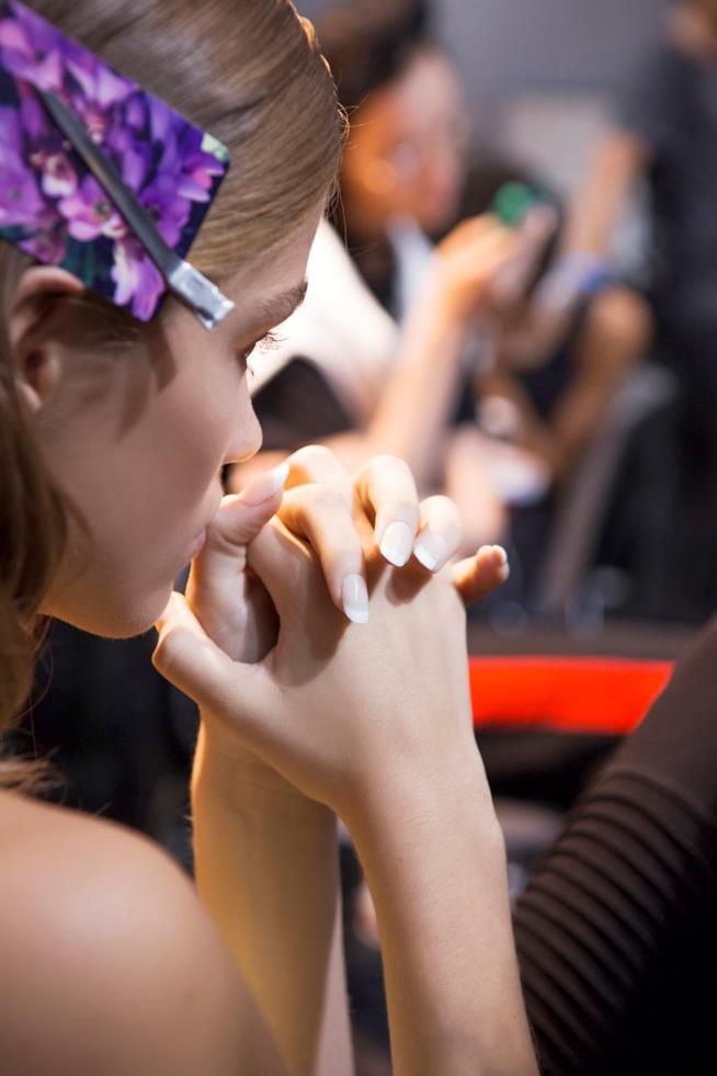 Nail art french manicure rosa
