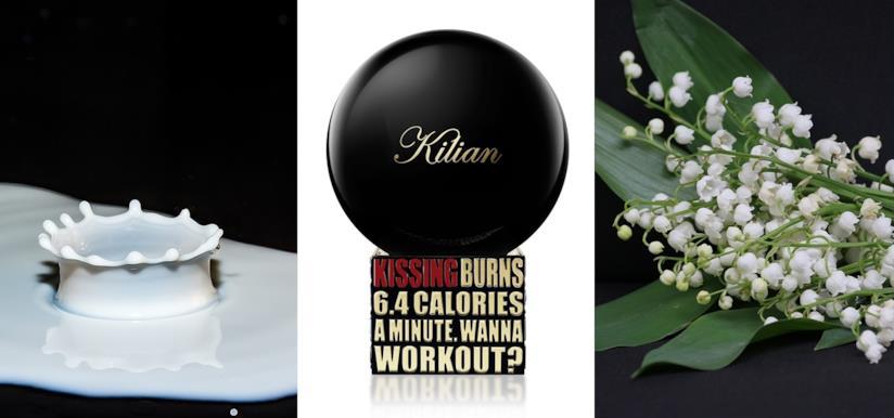 Kissing by Kilian contiene note di latte caldo, mughetto e confetto