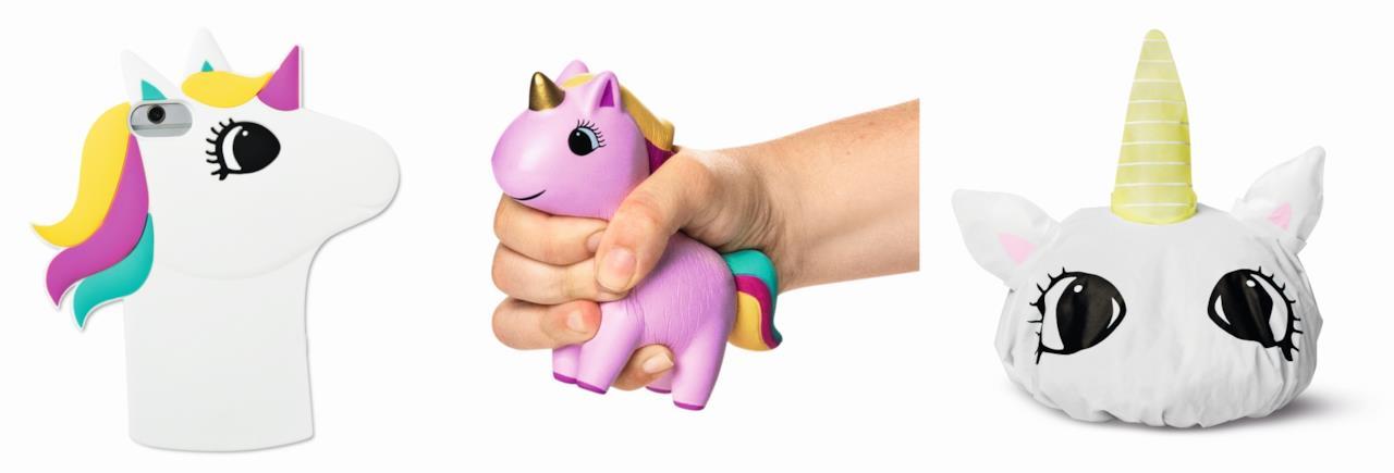 cover per iphone, giocattolo antistress a forma di unicorno