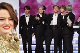 Emma Stone e la band coreana BTS